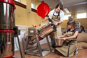 Chokladtillverkning.