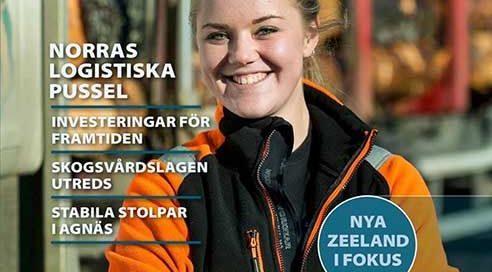 Foto av timmerbilsförare Ida Söderlund.